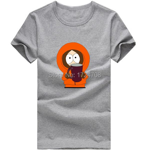 Nieuwe zomer south park kenny t-shirt mannen merk materiaal met korte mouwen t-shirt top t-stukken voor heren kleding(China (Mainland))