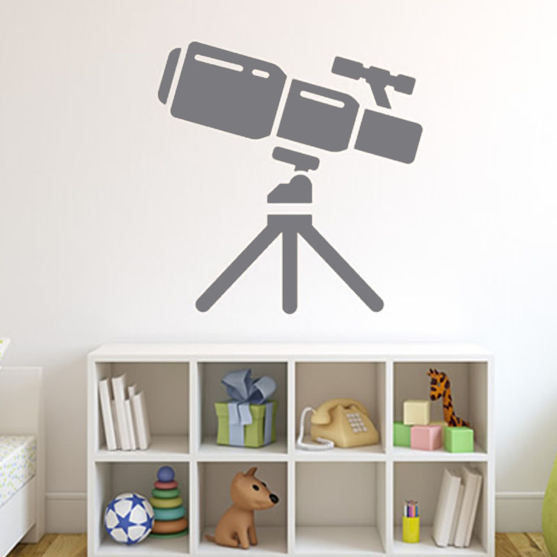 DCTOP Kids Bedroom Space Telescope Wall Decal Vinyl Art