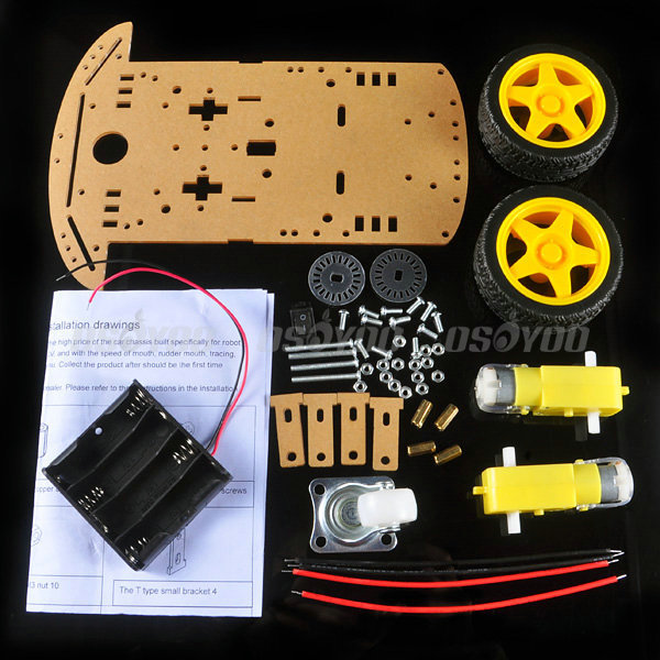 Motor Smart Robot Car Chassis Kit Speed Encoder Battery Box Arduino & Drop Shipping - BeyondTel Co., Ltd store