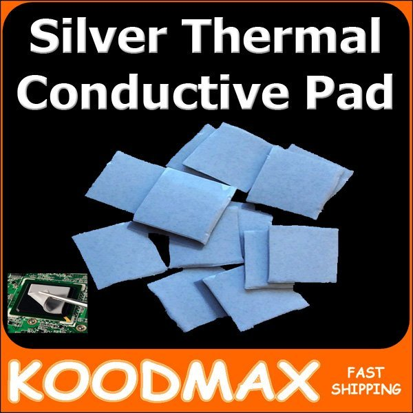 Laptop GPU South Bridge IC Heatsink Cooling Silicone Thermal Conductive Pad 2cm*2cm*( 0.5mm - 1.0mm - 2.0mm ) koodmax
