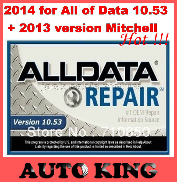 2014 auto repair software hdd for Allldata10.53,2013newest version Mitchell on demand in one 750G hdd ---Free DHL SHIPPING!