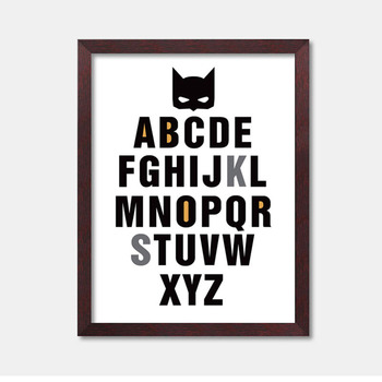 Batman Quote Canvas Art Print Poster, Wall Pictures for Home Decoration, Frameless Oil Painting