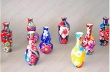 Jingdezhen ceramic mini thin body color floret bottle handicraft gadgets furnishing articles(China (Mainland))