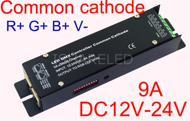 3CH easy dmx constant voltage decoder,DC5-24V input;5A*3channel output;with XLR&RJ45 interface(China (Mainland))