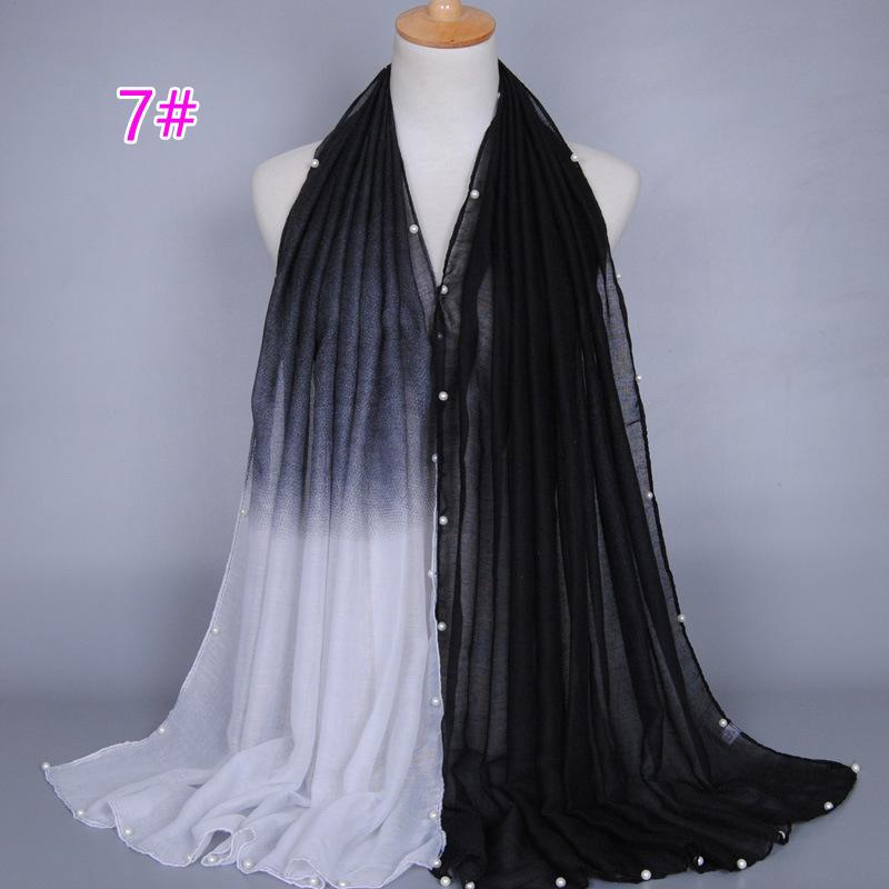 DHL Shipping! Glitter Design PrinteD Ombre Pearl Viscose Shawl Scarf 2016 Headband Hijab Wrap Muslim Sjaal Echarpe Foulard Femme(China (Mainland))
