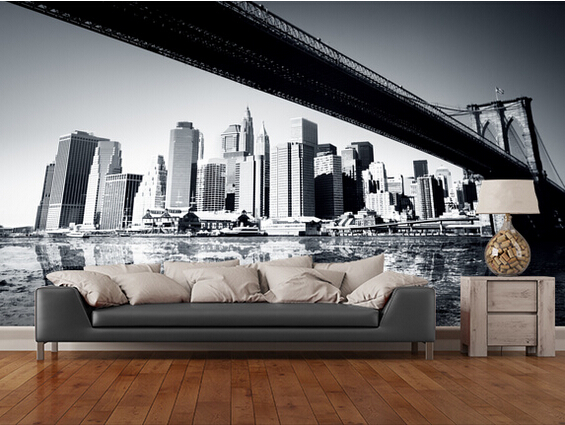 Online kopen wholesale new york behang uit china new york behang groothandel - Behang voor restaurant ...