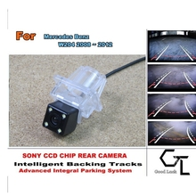 For Mercedes Benz C Class MB W204 2010~2015 Parking Assistance Tracks Module Rear View   Back Up Parking Camera  HD CCD