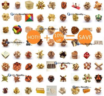 67pcs/set Wooden Brain Teaser Toy puzzle burr puzzle IQ educational toy wood kids toy Christmas gifts idea +Free shipping