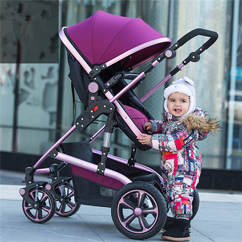 Folding Baby Stroller Light Weight Baby Carriage High Landscape can Sit and Down Umbrella Cart Portable Travel Pram Pushchair<br><br>Aliexpress