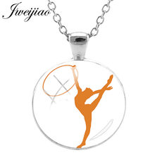 JWEIJIAO High Quality Ballet Shoes Pendant Necklace Gymnastics Dancer Ballerina Necklaces Figure Silhouette DIY Jewelry D346(China)