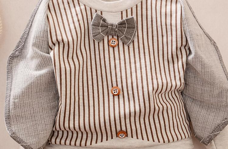 Весна / осень мальчик одежда комплект дети одежда комплект дети джентльмен костюм дети длинный рукав рубашка + брюки