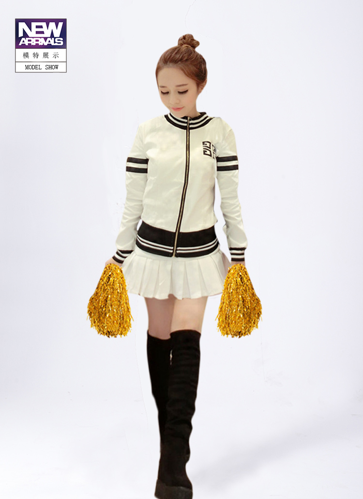 Cheerleader Uniform Cheerleader Outfit  Costume Clothes Cheerleading Uniform jacket with skirt pick color