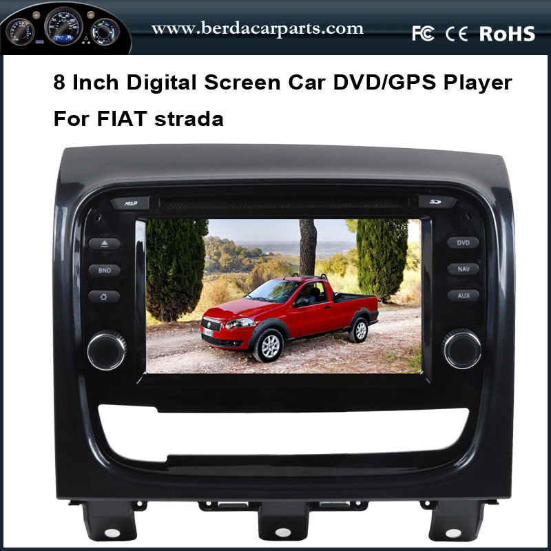 8 Inch Touch Screen Car Multimedia For FIAT Strada With GPS Navigation System Stereo Bluetooth iPod FM/AM Radio RDS(China (Mainland))