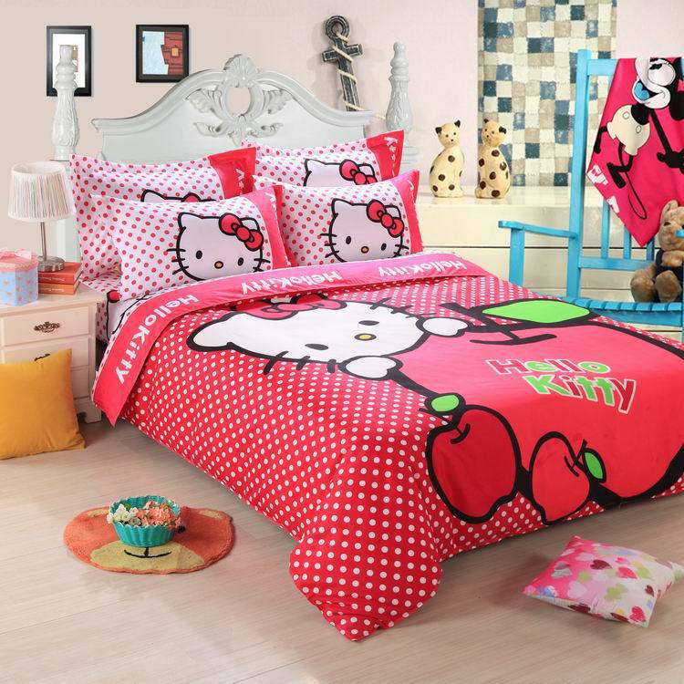 Textile double four piece Imitation cotton fabric bedding cover/ bed sheet/ pillowcase - Wonston Store store