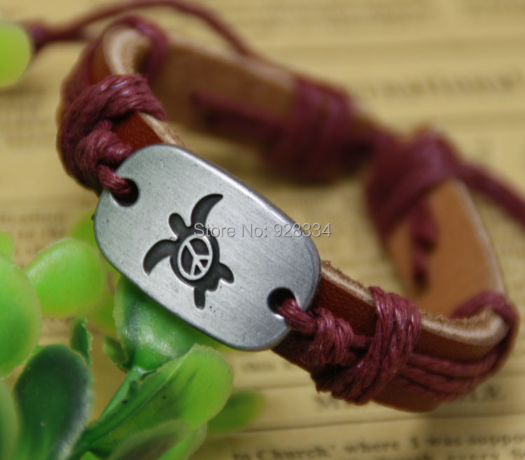 New Fashion Truth Braided Leather Bracelet Designs mens bracelets Peace Sea Turtle women jewelry - First-Rate Jewelry store