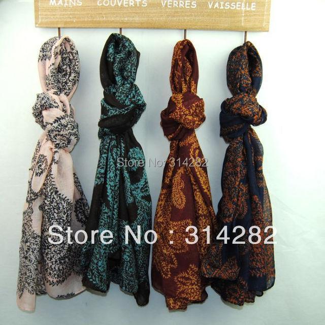 2013 new printe cashew flower scarf fashion long spring popular muslim scarves 180*100cm 12pcs/lot mix order