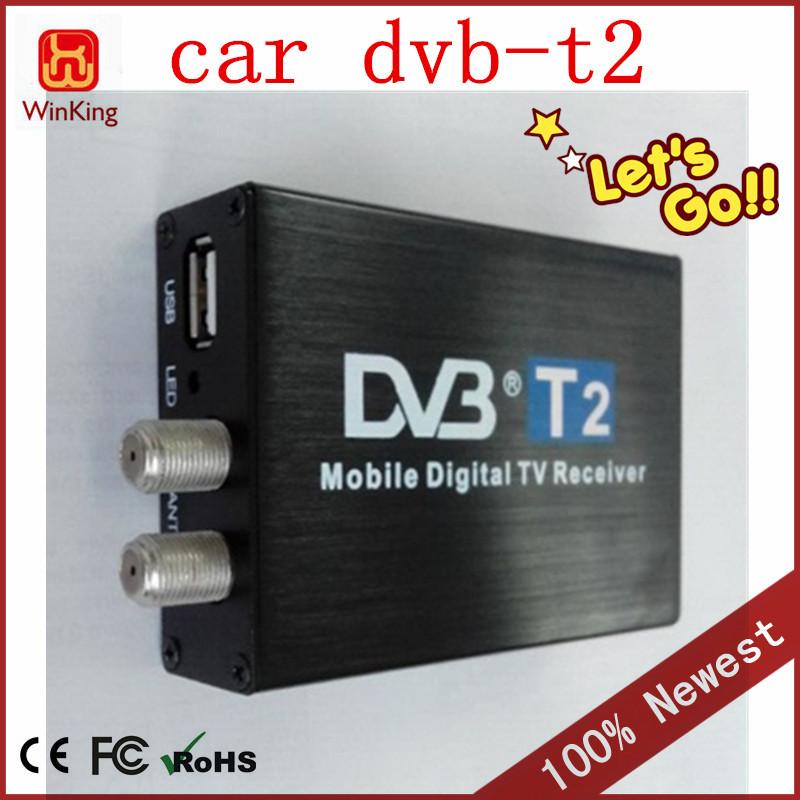 High speed 100-120km/h Double Antenna HD Car tv tuner dvb-t2 tv receiver,car dvb t2 mobile digital tv box(China (Mainland))