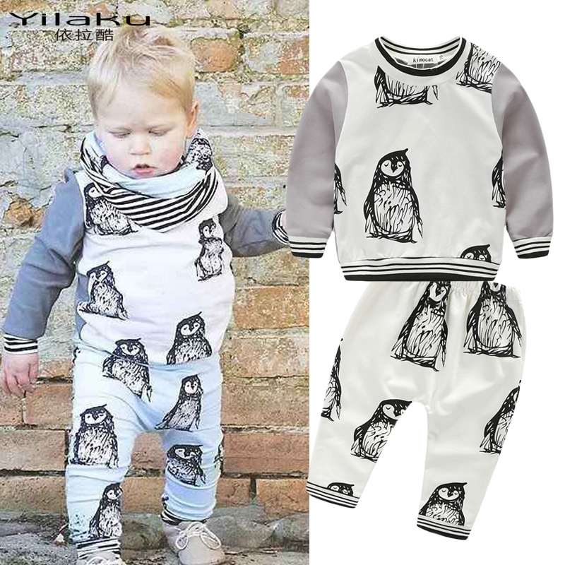 New Baby Boy Spring Clothes Set Children Cartoon Hoodies Fleece+Casual Pants Tracksuits Animal Infant Boys Clothing Sets CF352(China (Mainland))