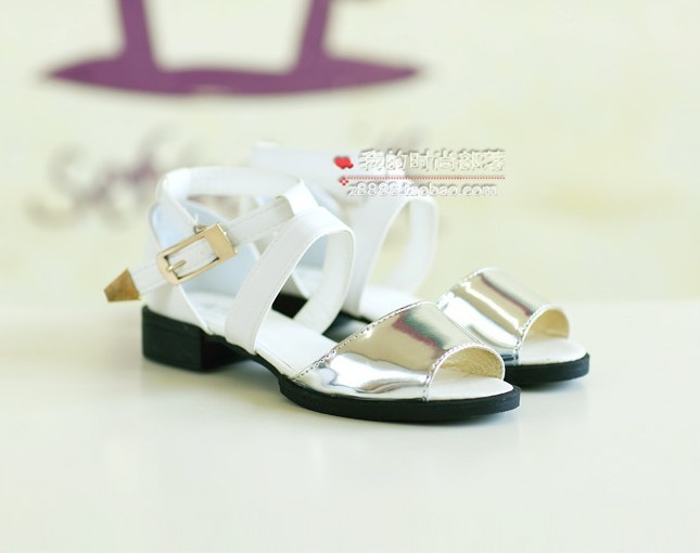 ,2013 summer new color matching frying fish mouth han edition buckles big flat Roman women sandals - Online Store 429532 store