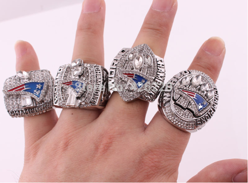 2001 2003 2004 2014 New England Patriots Super Bowl Football Championship Ring Set Size 8-14 - Rings Manufactuer store