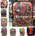 Deadpool Super Hero Backpack PU Leather Marvel Comics computer school Book Bag 42x30x12cm