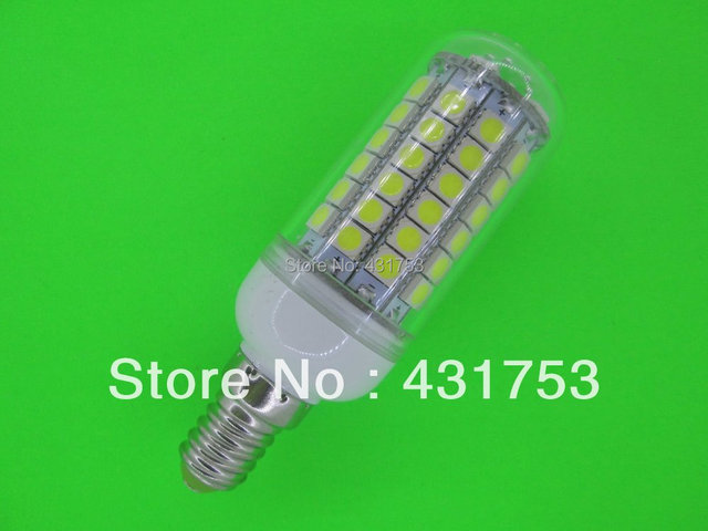 NEW  E14 5050 69 LED Corn Bulb Light  (1100 lumens) LED Lamp 200V-240V 360 degree white / warm white ( high brightness )