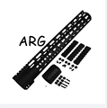12 AR Free Float Handguard Keymod Barrel 308 free shipping LIGHTWEIGHT THIN FREE FLOATING HANDGUARD WITH