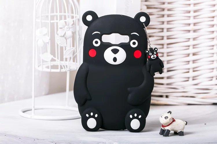 Japan Kawaii 3D Cute Cartoon Kumamon Coque Case Samsung Galaxy A510 A710 A5 A7 E5 E7 J5 J7 G530 Silicone Cover  -  LHC's STORE store