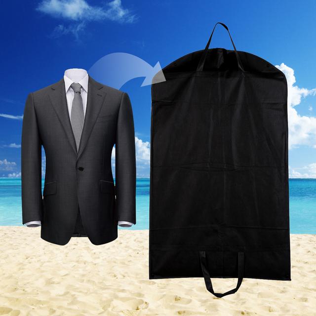 1 шт. Черный Пылезащитный Вешалки Пальто Одежда Одежды Костюм Обложка Сумки Хранения, хранения одежды, almacenamiento, Чехол для одежда E5M1