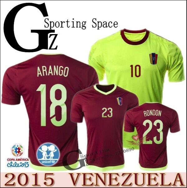 Venezuela soccer jersey 2015 2016 top quality Venezuela Jersey VIZCARRONDO ARANGO RONDON 15 16 football soccer custom name(China (Mainland))
