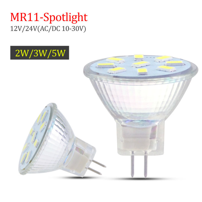 Lamparas MR11 LED Bulb Lamp GU4 base Led Spotlight 5730SMD AC / DC 10V-30V 2W 3W 5W Light For Home Decor warm white / cool white()