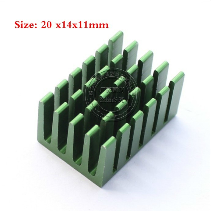 520*14*11MM Aluminum Graphic Card Heat Sink Black Anodize Radiator IC, Chip,Asic - Filled aluminum Co., Ltd. store