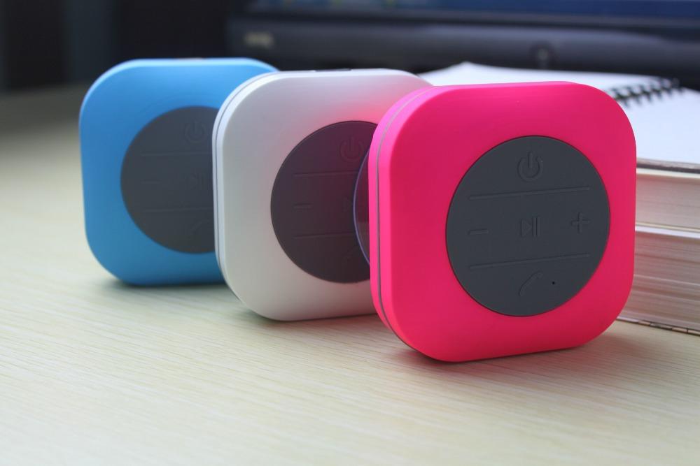 10pcs/lot Waterproof Bluetooth Speaker for Shower Car Recieve Calls Music Handsfree Speaker(China (Mainland))