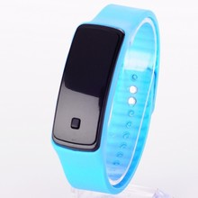 LED Watch 2015 Fashion Sport Digital Watch Silicone Running Bracelet Watch For Women Men Kids Wristwatch