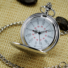 Hot Selling Concise Silver Round Vintage Watch Fashion & Leisure Necklace Pocket Watch For Men Children Best Gift Pocket Watches(China (Mainland))