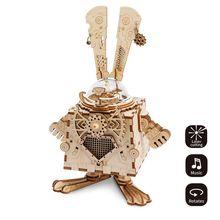 Robud Nova Figuras de Ação & Toy Assembléia 3D Modelo Puzzle De Madeira DIY Caixa de Música Modelo de Robôs Brinquedos para Crianças AM para Dropshipping(China)