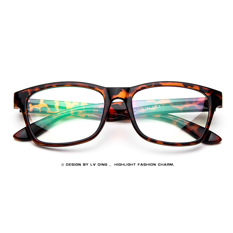 Fashion Retro Square Big Glasses Frame Women Men Computer ...