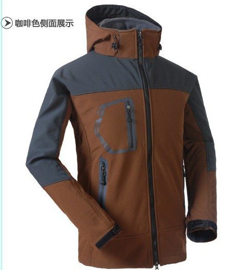 NEW Spring and Autumn the face Hot Selling Men's Outdoor Sportswear Softshell Jacket Zipper Hooded Outerwear Coat(China (Mainland))