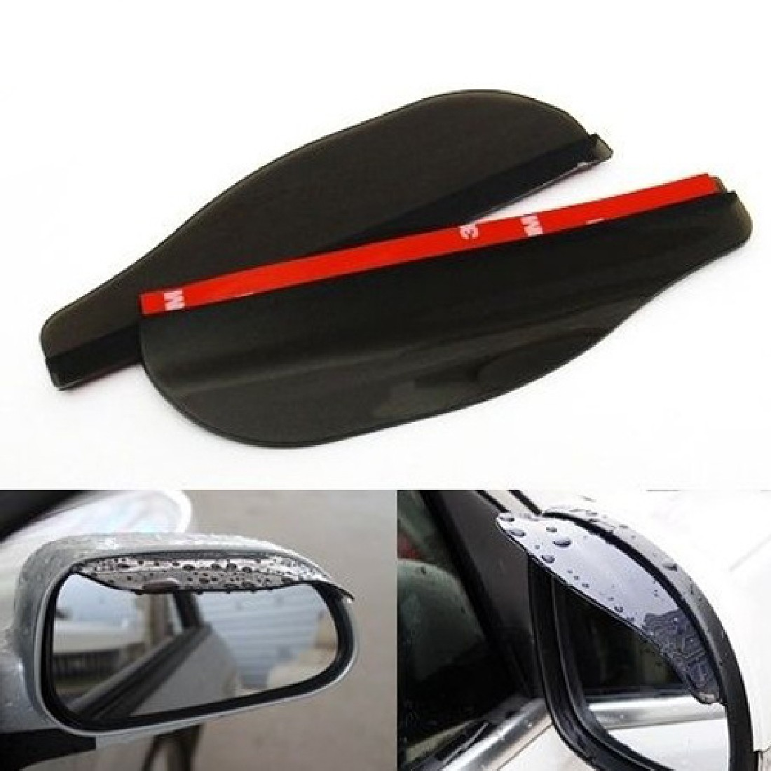 Гаджет  Car Rear View Mirror Flexible Anti Rain Guard Shade Auto Weatherstrip Black best sale None Автомобили и Мотоциклы