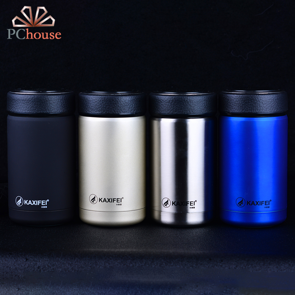 PChouse 4 Colors Men Women's Office Vacuum Flasks 304 Stainless Steel Thermos Coffee Mug 2017 New 400ml Travel Mug Drink Bottle(China (Mainland))