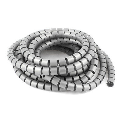 5 Meter 16.4ft 15mm Dia Gray Plastic Wrapping Bands Cable Organizer Wrap(China (Mainland))