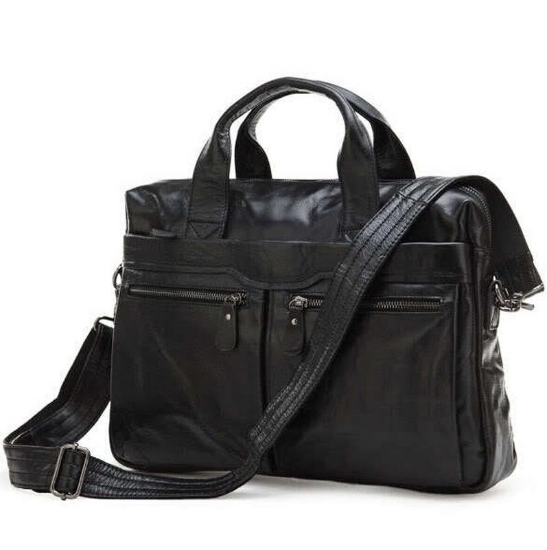 Men Genuine Leather Briefcase men Bags Business Laptop Tote Bag Men's Crossbody Shoulder Bag Men's Messenger Travel Bags 7122(China (Mainland))