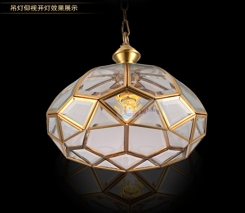 Dining Room Copper Tiffany Pendant Light For Country House