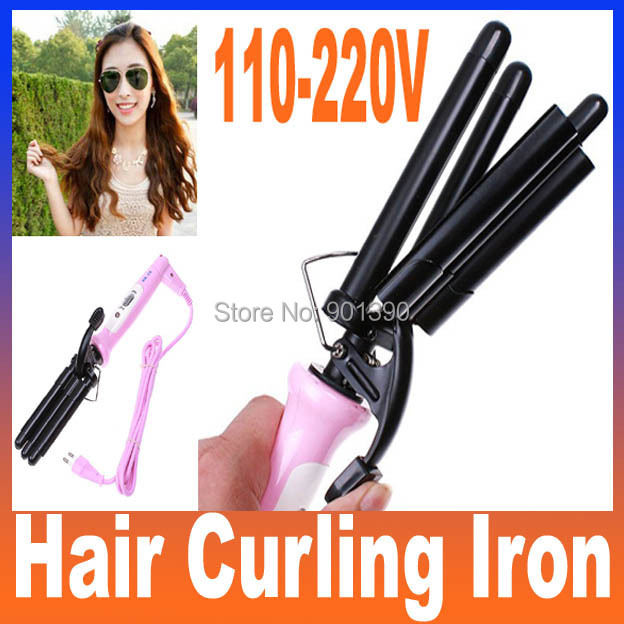 Hot High Quality Professional Pink Wand Hair Curling Iron