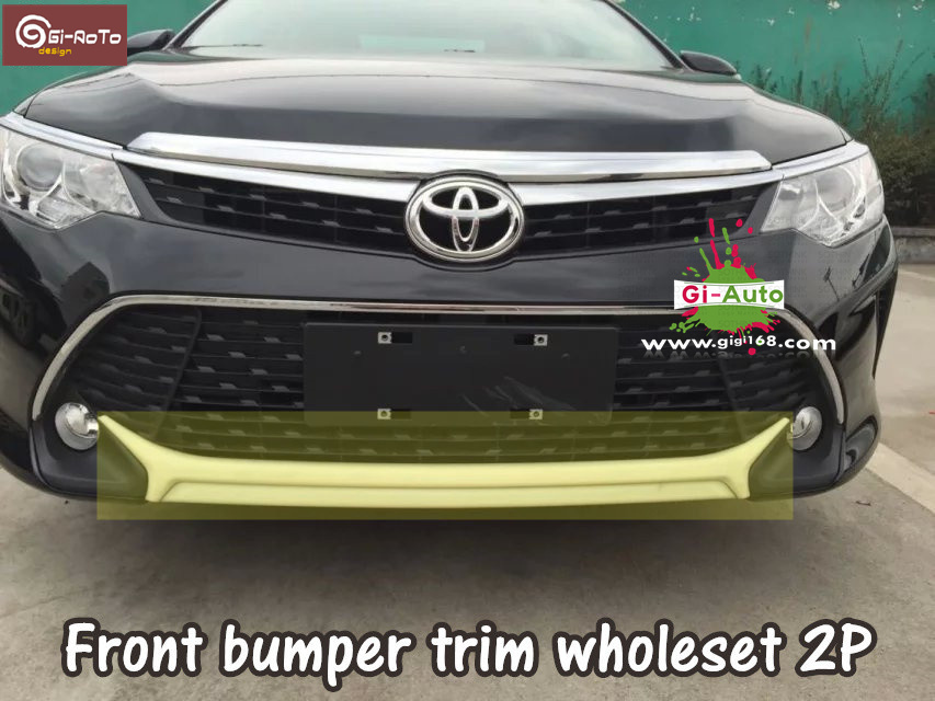 Gi-Auto Design for Toyota 2015 new Camry abs chrome front and rear bumper protector cover trim decoration 1/2/3p free ship(China (Mainland))