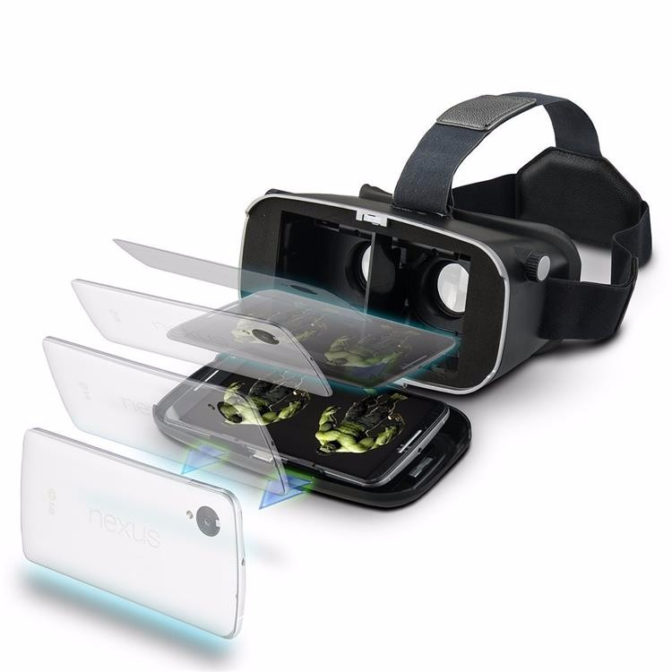VR Shinecon Virtual Reality 3D Glasses google cardboard 2.0  Pro Version VR Glasses VR BOX 2.0 Movie For 3.5-6.0′ Smartphone