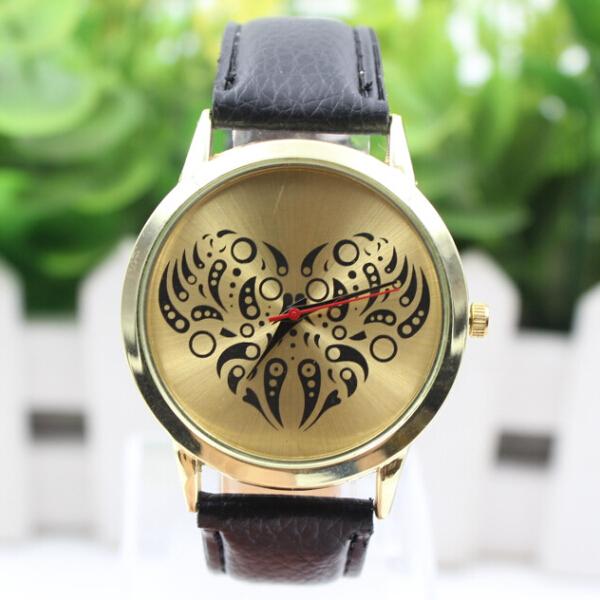 2015 New Famous Brand Geneva Heart Casual Quartz Watch Women Lether Strap Dress Wrist Watches Relogio Feminino Clock - Shine Factory store