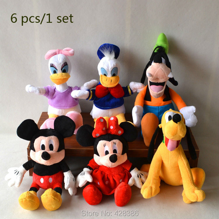 Mickey Minnie Mouse,donald duck Daisy,goofy dog,pluto dog classic toys children 6pcs/set - Truman Hua's store