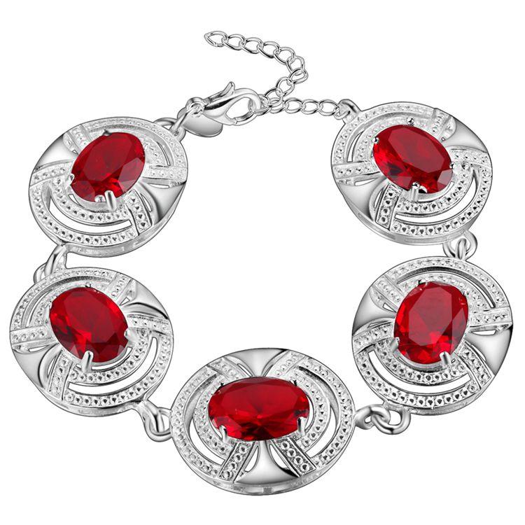 nice bracelet 925 free shipping Fashion jewelry silver gift gem Hand catenary PS585(China (Mainland))