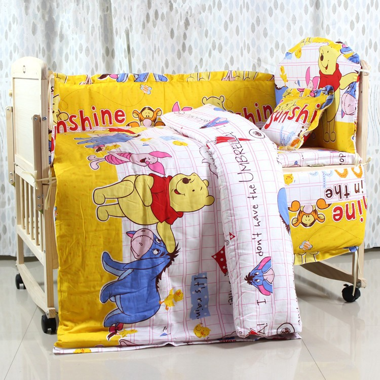 Promotion! 10PCS Baby Crib Cot Bedding Set Baby Quilt Bumper Sheet ,unpick(bumpers+matress+pillow+duvet)<br><br>Aliexpress
